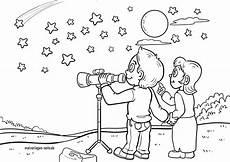 malvorlage sterne beobachten kostenlose ausmalbilder