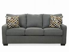 casual sofa sleeper in denim mathis brothers furniture