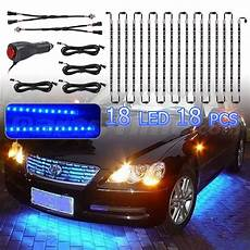 Blue Underbody Light Kit Blue Undercar Underbody Underglow 18pcs Car Shine Led Neon