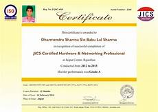 Hardware And Networking Certificate Format Download Jics India Summer Training Institute In Jaipur Welcome