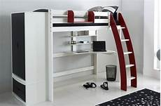 scallywag exclusive high sleeper bed integral desk