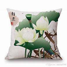 Summer Throws For Sofa 3d Image by Decorative Summer Lotus Cushion Cover Floral Sofa