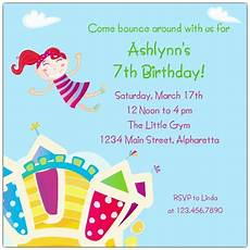 Birthday Invite Images Bouncy Castle Birthday Invitations Paperstyle