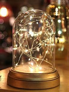 Fairy Lights In Glass Cylinder Glass Display Dome Cloche With 20 Suspended Led Fairy
