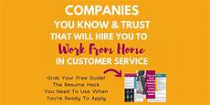 No Customer Service Jobs Companies You Know Amp Trust That Hire You To Work From Home