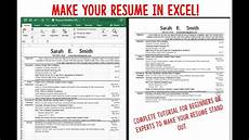 How Do I Format A Resume Make A Resume Cv Using Excel Fast Attractive And Easy