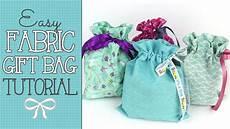 drawstring fabric gift bag tutorial easy scrap