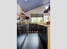 Black Cabinets Provide Contrast to White Subway Tile Walls   HGTV