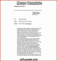 Memo Format For Word Memo Template