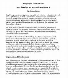 Employee Assessment Sample 12 Employee Evaluation Templates Word Apple Pages