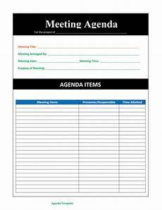 Templates For Agendas 46 Effective Meeting Agenda Templates ᐅ Templatelab