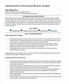 Administrative Functional Resume 10 Functional Resume Templates Pdf Doc Free