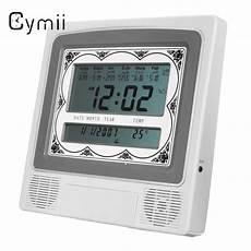 Wall Table Muslim Clock Azan Islamic cymii grey lcd automatic islamic azan muslim prayer alarm