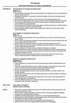 Marketing Specialist Resume Sample Product Marketing Specialist Resume Samples Velvet Jobs