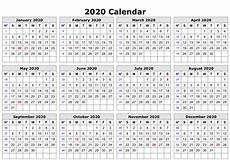 Yearly Calendar Template Word Free Editable 2020 Calendar Printable Template