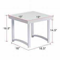 end tables outdoor side table patio tempered glass