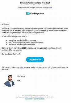 Online Email Invitations Get Inspired By These Webinar 6 Invitation Best Practices