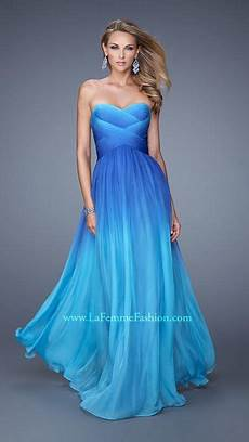 La Femme Light Blue Dress Gorgeous Aqua Teal Blue And Royal Blue Ombre Long Formal