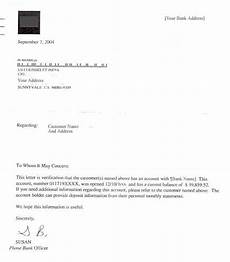Insufficient Funds Letter To Customer Bank Account Verification Letter For Sponsoring Us Visa