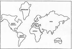 Continent Template Described 7 Continents Of The World Pdf World Map Outline