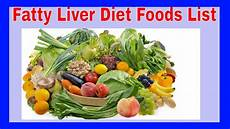 fatty liver diet foods list