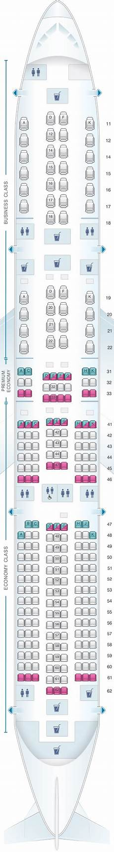 Airbus A350 900 Seating Chart Seat Map Singapore Airlines Airbus A350 900 Seatmaestro