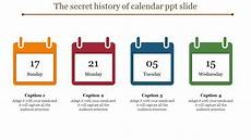 Calendar Slides Multi Color Calendar Ppt Slide Slideegg