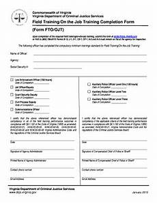 Job Completion Form Excel Form On The Job Training Fill Online Printable