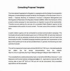 Management Consulting Proposal Consulting Proposal Template 18 Free Word Pdf Format