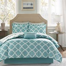 beautiful modern chic blue light aqua bed in a bag