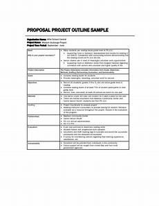 Sample Project Outline Project Proposal Outline Sample
