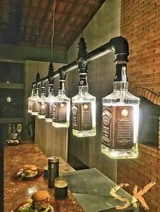 Diy Liquor Bottle Lights Diy Man Cave Lighting Ideas Jack Daniel S Whiskey Bottle