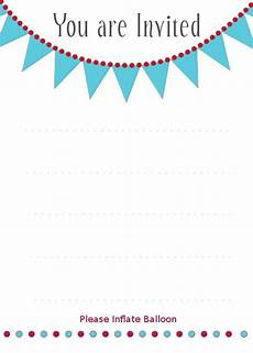 You Re Invited Templates You Re Invited Balloon Invitations 2 91 Custom