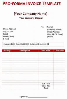 What Is A Proforma Invoice Pro Forma Invoice Template 5 Free Pro Forma Invoices