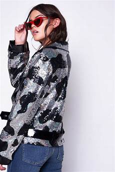motorcycle clothes for sequin cow print sequin oversized biker jackets jackets