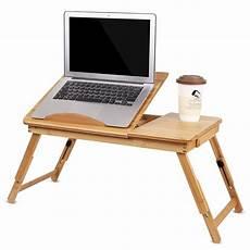 yosoo foldable bamboo laptop desk tray breakfast serving
