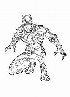 ausmalbilder schwarzer panther superheld marvel kostenlos