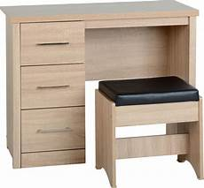 lisbon 3 drawer dressing table set available in either