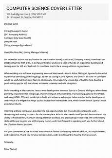 Cover Letter For Internship In Computer Science Cover Letter Example Computer Science 90 Cover Letter