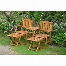 panchina per giardino set da giardino in legno di acacia panchina 2 posti e