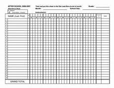 Blank Attendance Sheet For Teachers Blank Attendance Sheets Class Attendance Sheets Get As