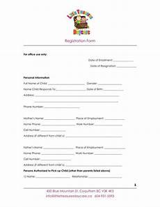 Babysitting Application Form 9 Daycare Application Form Templates Free Pdf Doc