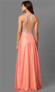 coral prom dresses beaded bodices promgirl