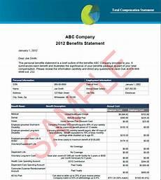 Benefit Statement Employee Benefits Total Compensation Statements Cbg