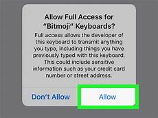 Calendarsthatwork Com Full Access How To Allow Full Access To Bitmoji Keyboard On Iphone Or Ipad
