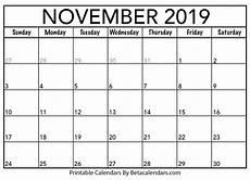 November Calendar Printable Blank November 2019 Calendar Printable Beta Calendars