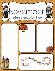 Thanksgiving Newsletter Template Free Simply Delightful In 2nd Grade