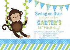 Monkey Birthday Invitations Birthday Invitations Monkey 1st Party Invites Birthday