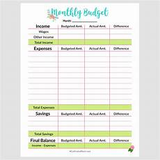 Monthly Budget Template Printable Monthly Budget Template A Cultivated Nest