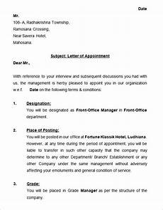 Sample Appointment Letter Download 31 Appointment Letter Templates Free Sample Example